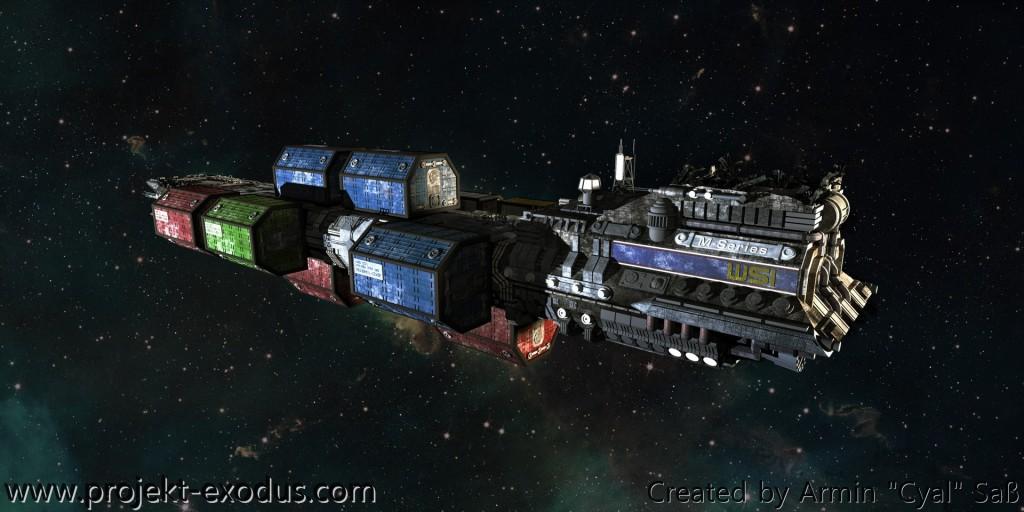 Der Frachter Hesperios (Heck)